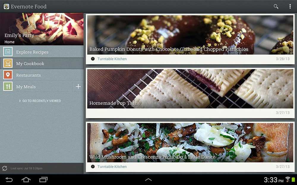 Evernote Food для Android